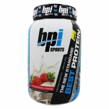 BPI Sports - Best Protein Advanced 100% Whey Protein Formula Strawberries & Cream - 2 lbs.