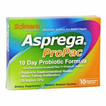 Scimera BioScience - Asprega Propac 10 Day Probiotic - 10 Vegetarian Capsules