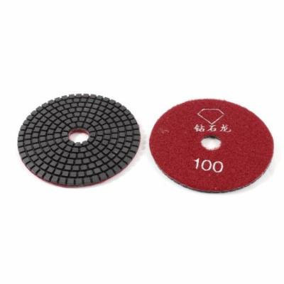 2 x Red Black 100 Grit Diamond Polishing Grinding Pad for Granite Marble Grinder