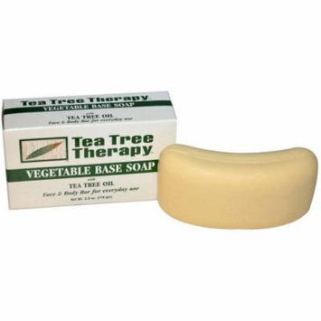 Tea Tree Therapy Vegetable Base Soap Bar, 3.9 OZ (Pack of 2)