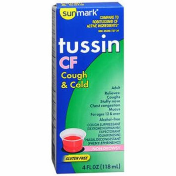 Sunmark Tussin CF Cough & Cold Liquid - 4 oz