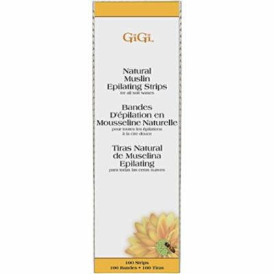 GiGi Natural Muslin Epilating Strips - Large 100-Count (Pack of 4)