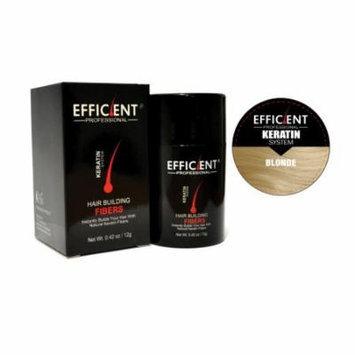 EFFICIENT Keratin Hair Building Fibers, Hair Loss Concealer Net Wt. 12gm / 0.42 oz (Blonde)