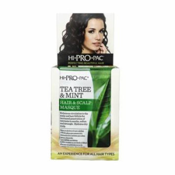 Hi-Pro-Pac Tea Tree & Mint Scalp Masque Treatment Packettes 12-Count 1.75 oz. (Pack of 4)
