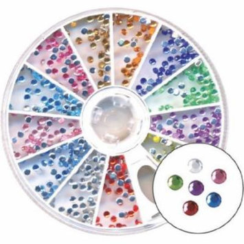 Amazing Shine Nail Art - Rhinestones Round Rainbow 4-Count
