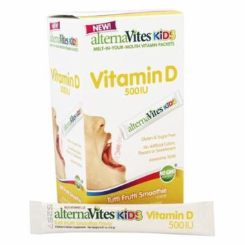AlternaVites - Kids Melt-In-Your Mouth Vitamin D Vitamins Tutti Frutti Smoothie 500 IU - 30 Pack(s)