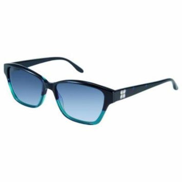 BCBGMAXAZRIA Sunglasses SPIRITED Blue Teal Fade 53MM