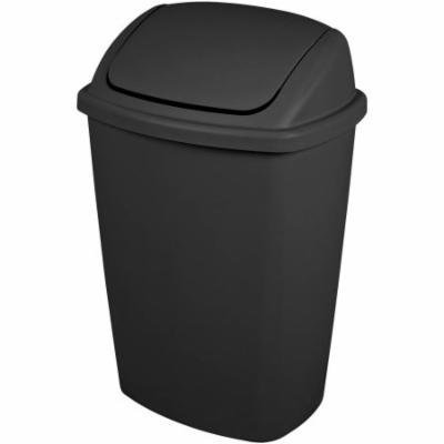 Sterilite 7.5 Gallon Swing Top Wastebasket- Black