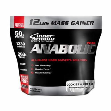 Inner Armour Anabolic-Peak Weight Gainer, Cookies & Cream, 12 Pound