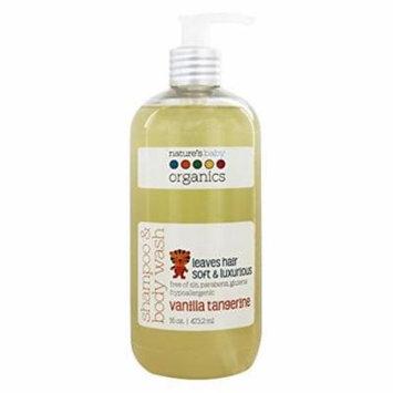Natures Baby Organics 0752436 Shampoo & Body Wash, Vanilla Tangerine - 16 fl oz