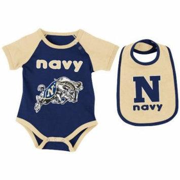 Navy Midshipmen Infant Rocker Onesie w/Bib