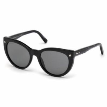 DSQUARED2 Sunglasses DQ0180 01A Shiny Black 55MM