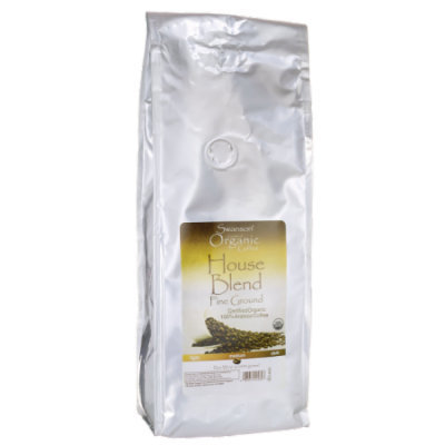 Swanson House Blend Fine Ground Organic Coffee - 1 lb (454 grams) Pkg