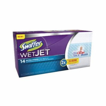 Swiffer Wetjet Pads with The Power of Mr. Clean Magic Eraser, 14 Count