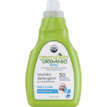 Greenshield Organic Baby Laundry Detergent Liquid Free & Clear, 50 fl oz