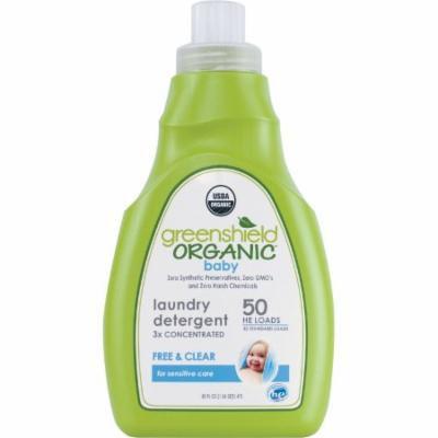 Greenshield Organic Baby Laundry Detergent Liquid Free & Clear, 50 fl oz