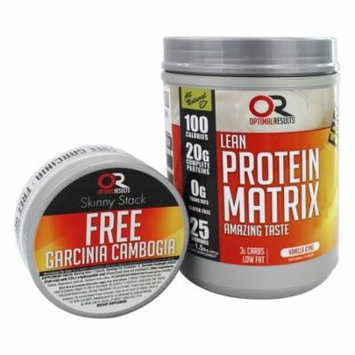 Optimal Results - Lean Protein Matrix with Free Garcinia Cambogia Capsules Vanilla Icing - 1.5 lbs.