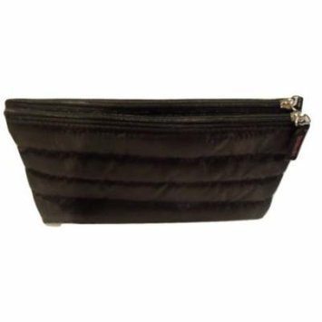 Strivectin Black Quilted Fold Out Style Cosmetic Makeup Bag