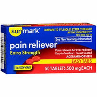 Sunmark Pain Reliever 500 mg Tablets Easy Tabs - 50 ct
