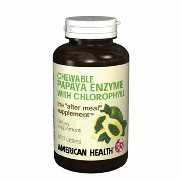 American Health Papaya Enzyme With Chlorophyll Chewable 600 Chewable Tablets