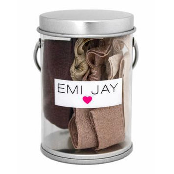 Emi Jay Brown Ombre Hair Ties in Paint Tin