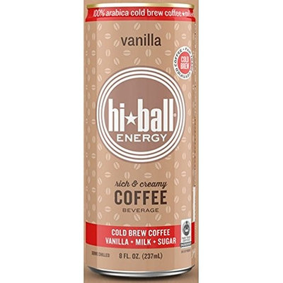 Hi Ball ENGY DRNK, COFFEE, VANILLA, (Pack of 12)