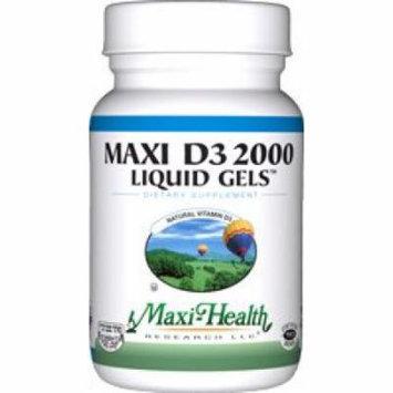 Maxi Health D3 2000mg Liquid Gels - Natural Vitamin D3 - Nutrition Supplement - 90 Capsules - Kosher