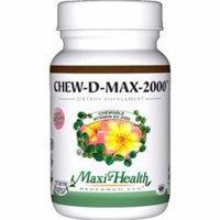 Maxi Health Chew D Max (Vitamin D3) 2000 IU Chewable Bubble Gum Flavor - 200 Tablets by Maxi-Health