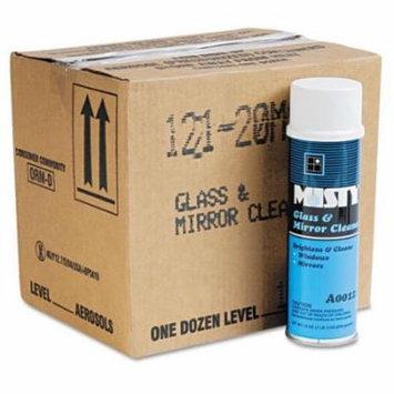 Misty - Glass & Mirror Cleaner w/Ammonia, 19oz Aerosol, 12/Carton A121-20CT (DMi CT