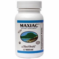 Maxi Health Maxiac - Detox Formula - Burdock Root and Red Clover - 60 Capsules - Kosher
