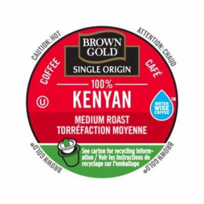 Brown Gold Coffee 100% Kenyan, RealCup portion pack for Keurig K-Cup Brewers, 24 Count