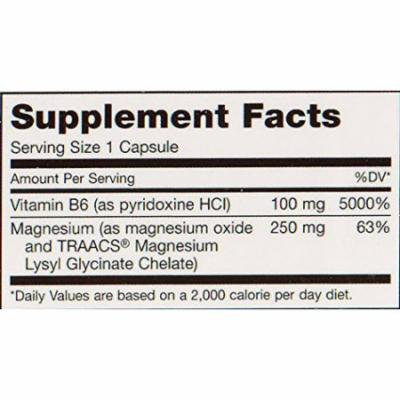 Maxi Health MAG 6 - Magnesium - with Vitamin B6 - Kidney Stones Support - 120 Capsules - Kosher