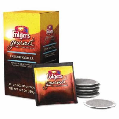Folgers Gourmet Selections Coffee Pods, French Vanilla, 18/Box