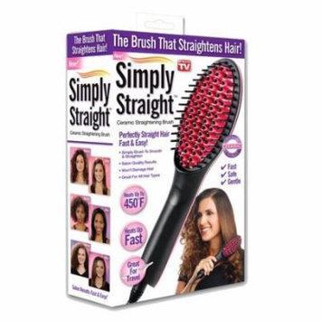 Simply Straight Ceramic Brush Hair Straightener As Seen On TV