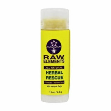 Raw Elements - All Natural Lip Balm Herbal Rescue - 0.15 oz.