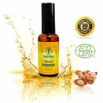 Smyrna Argan Oil Premium Quality 100% Pure Moroccan Argan Oil 2fl Oz /60ml. ECO Certified Organic for Hair Treatment