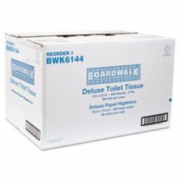 Boardwalk Two-Ply Toilet Tissue, White, 400 Sheets per Roll