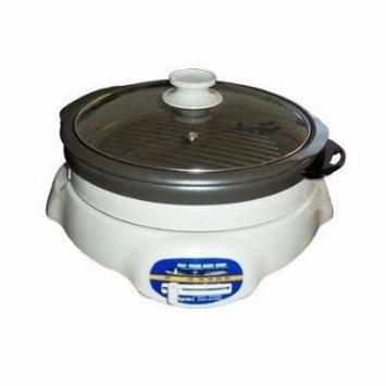 Sunpentown ST-360 1200-Watt 4-1/2-Liter Cooker with Shabu-Shabu Pot and Grill pan by Sunpentown