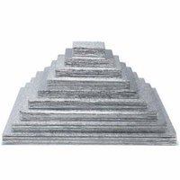 Weddingstar 136-10 10 inch Square Silver Cake Boards- Pack of 6