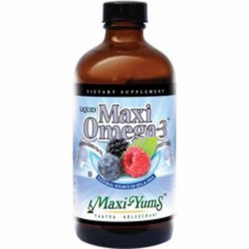 Maxi Health Maxi Omega 3 Liquid Fish Oil Fruity Flavor (12 Oz), Kosher Fish Oil