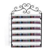 6-Tier Nail Polish Organization Rack,Wall Mount Nail Polish Holder