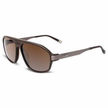 TUMI Sunglasses BASSANO UF Matte Brown 59MM
