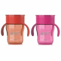 Philips AVENT 2 Count BPA Free Natural Drinking Cup, 9 oz., Red/Pink