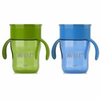 Philips AVENT 2 Count BPA Free Natural Drinking Cup, 9 oz., Green/Blue
