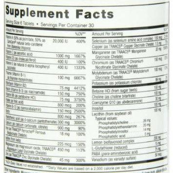 Maxi Health Supreme - High Potency Multivitamin & Mineral Supplement - 180 Tablets - Kosher