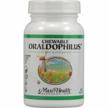 Maxi Health Chewable Oraldophilus Probiotic Formula - 100 Tablets