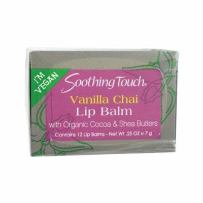 Soothing Touch 0702613 Vegan Vanilla Chai Lip Balm, 0. 25 oz - Case of 12