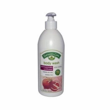 Natures Gate 0423822 Body Wash Velvet Moisture Pomegranate Sunflower, 18 fl oz