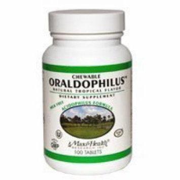 Maxi Health Chewable Oraldophilus Probiotic Formula - 100 Tablets by Maxi Health Kosher Vitamins