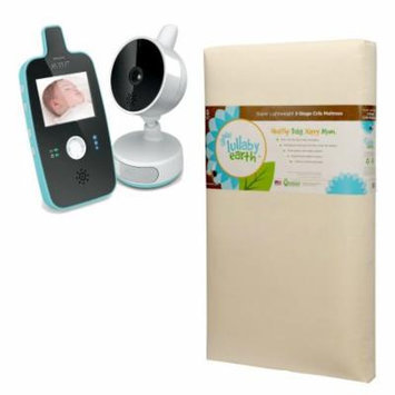Lullaby Earth Super Lightweight Crib Mattress with Avent Digital Video Baby Monitor with Night Vision